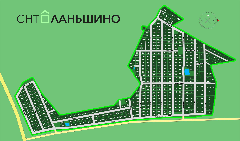 """Схема СНТ """"Ланьшино"""""""